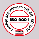 SOMMER is certified according to DIN EN ISO 9001. This guarantees you the highest standards of quality and production.