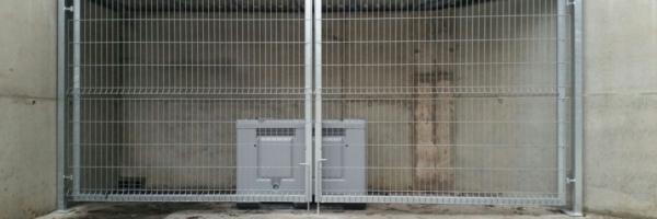 Ohtlike jäätmete hoiukoht, paneelaed, aedik