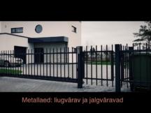 Metallaed, liugvärav, jalgvärav, värav prügikastile. Sommer väravaautomaatika, jalgvärav, prügikastile aedik