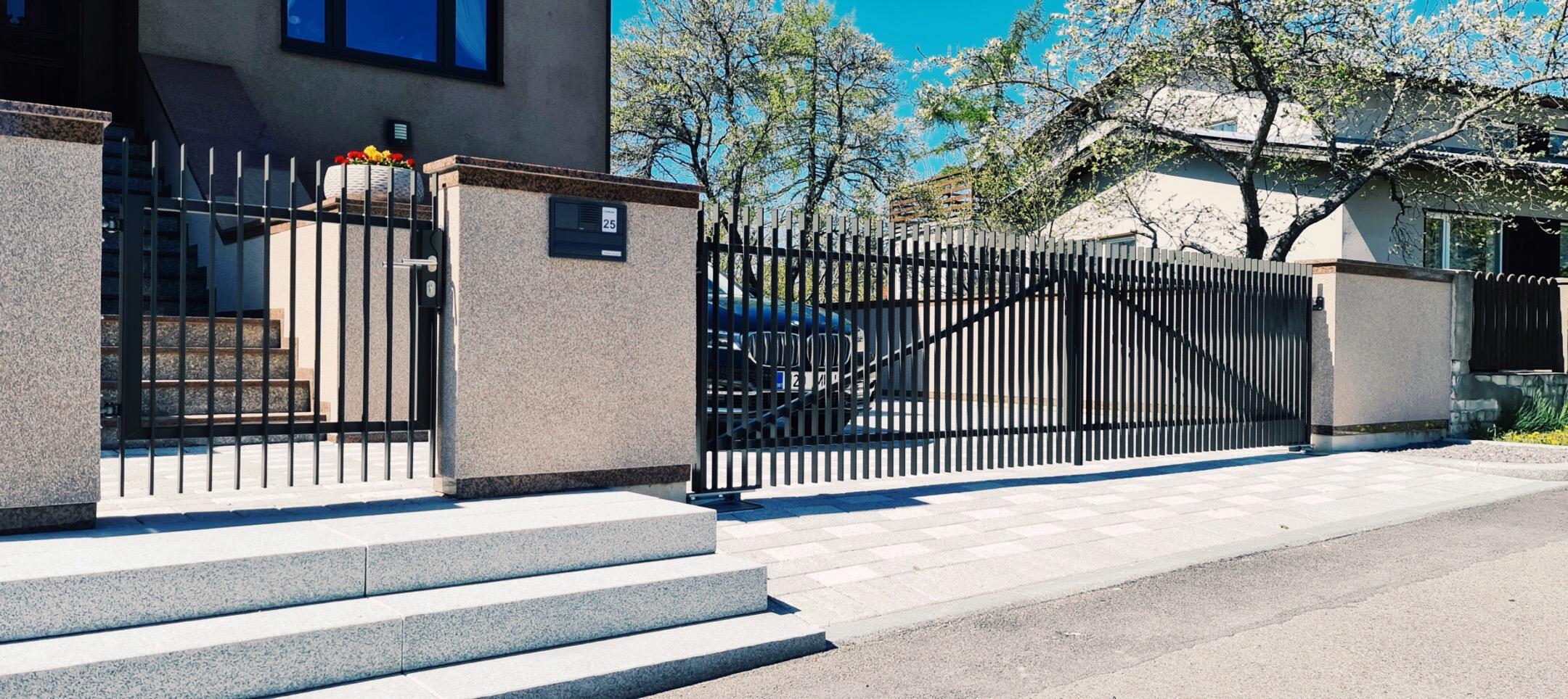 Aia ehitus, metallaed, aiaväravad, väravaautomaatika